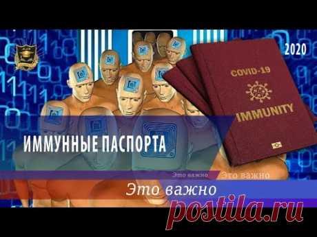 ЭТО ВАЖНО | Иммунные паспорта | 25.07.2020