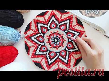 Сумка Мочила - Процесс вязания - Часть 1: Дно / Mochila bag - Process of crocheting - Part 1: Bottom