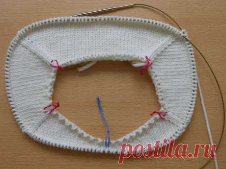 Knitting by spokes - the Raglan from above (partial knitting) II. Practice.