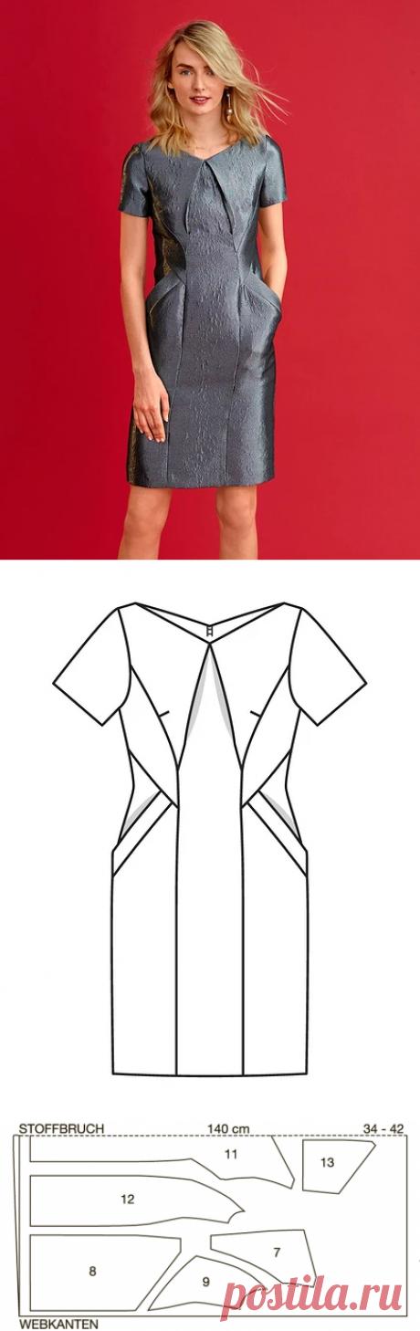 Как сшить платье с фигурными линиями кроя — Мастер-классы на BurdaStyle.ru