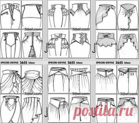 Огромное количество самых необычных фасонов красивых юбок