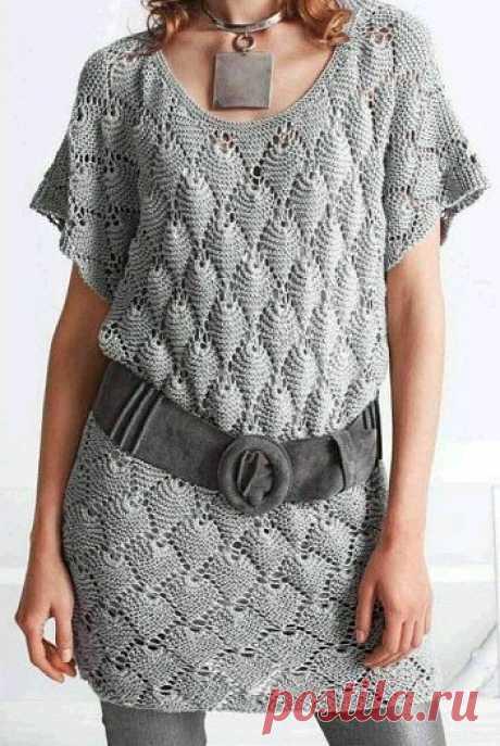 Вязание: туника спицами