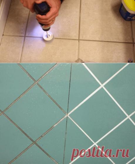 Как без усилий обновить швы между плиткой: гениальный трюк!