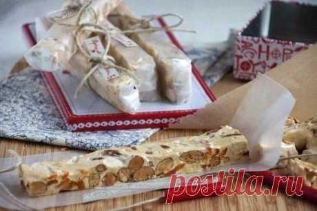 Мягкая нуга с орехами и курагой (Torrone morbido)