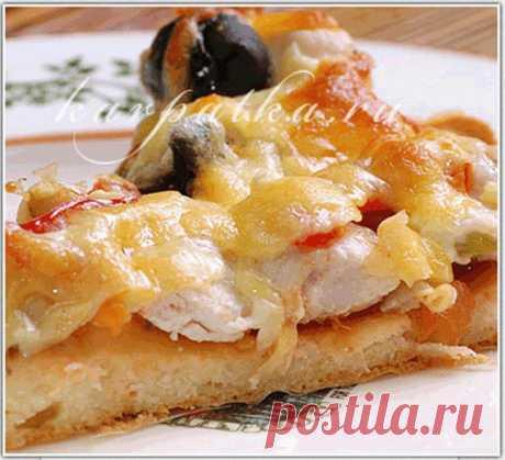 """Hеимоверно быстрая Пицца на СМЕТАНЕ """"...три кусочка съедено..руки тянутся к следующему!!!!"""""""