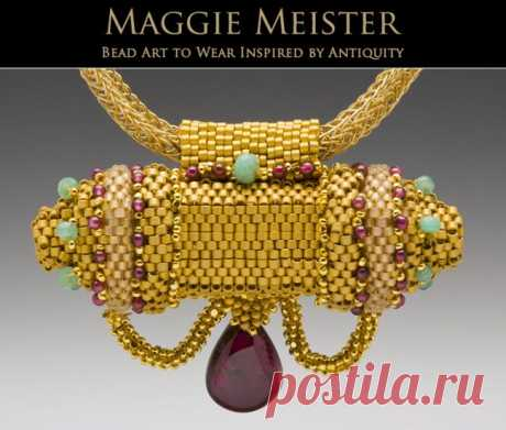 Gallery for Maggie Meister Bead Art to Wear, Inspired by Antiquity