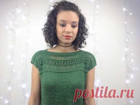 Blusa linda em tricô/ Passo a passo completo - YouTube