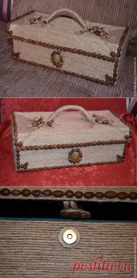 Плетем сундучок из ненужной коробки из под обуви - Nebka.Ru