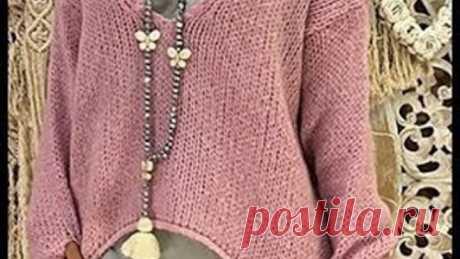Новые Модели Вязаных Свитеров Спицами - 2019 / New Models Of Knitted Sweaters Knitting