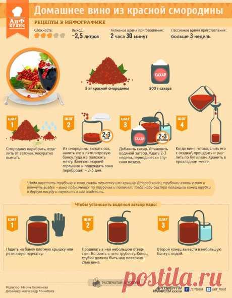 Рецепт домашнего вина из красной смородины - Кухня - Аргументы и Факты