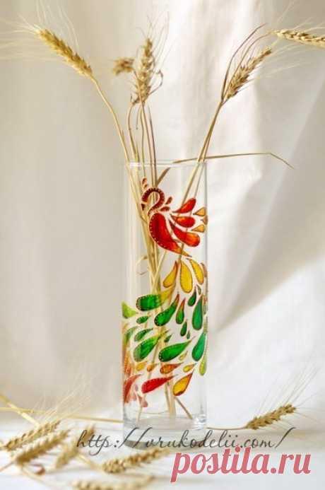 Мастер-класс по красивой росписи бокала — Сделай сам, идеи для творчества - DIY Ideas