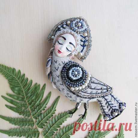 Текстильные броши мастера Мария Кнутова