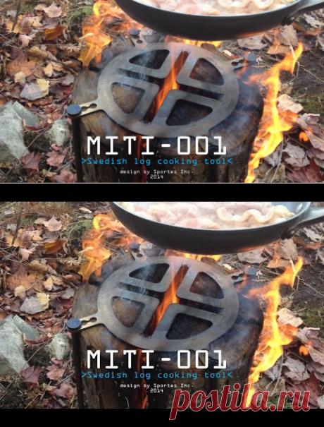 (25) Swedish log stove cooking tool MITI-001 - YouTube