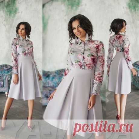 Платье с имитацией блузы