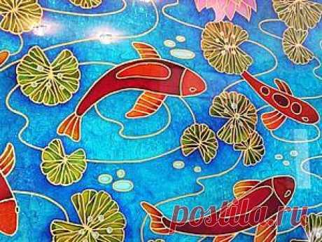 """Расписываем стекло: создаем витражное панно """"Рыбы""""    Роспись стекла— деликатный и изысканный способ декорирования, ранее доступный только избранным профессионалам. Однако современные достижения в области синтетических смол и красителей позволяют т…"""