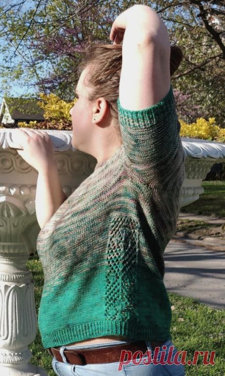 Вязаный пуловер FadingLeaves | ДОМОСЕДКА