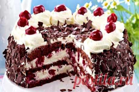 Торт «Шварцвальдская вишня» или «Черный лес»