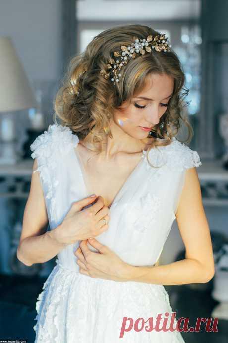 Гребешок в свадебную прическу. Стилист и дизайнер украшений Анна Ефимова Платье Ульяна Сорочинская