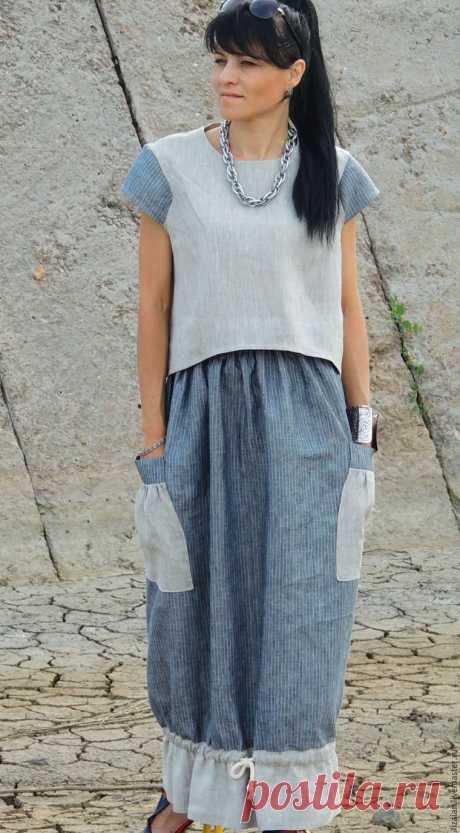 Шьем юбку в стиле «офисный бохо» – Ярмарка Мастеров