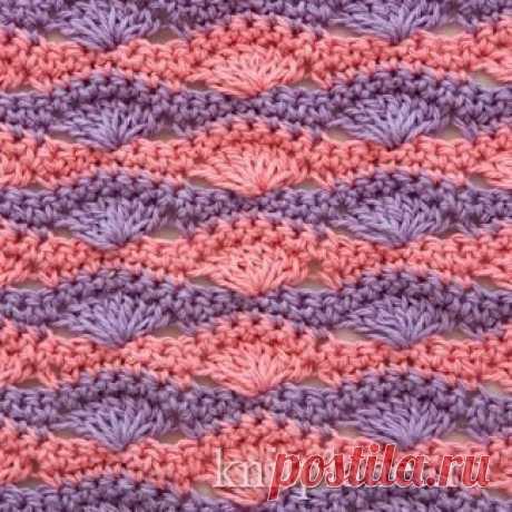 Плотный многоцветный узор (Вязание крючком) | Журнал Вдохновение Рукодельницы