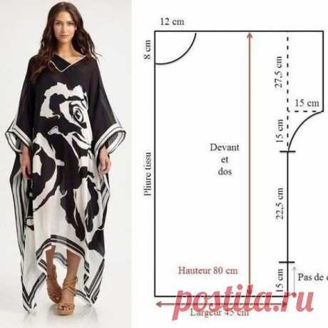 Выкройка платья туники Модная одежда и дизайн интерьера своими руками