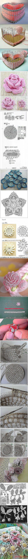 Розы, открытая шкатулка и схемы крючком | postila.ru/Юра%20Вахрушев