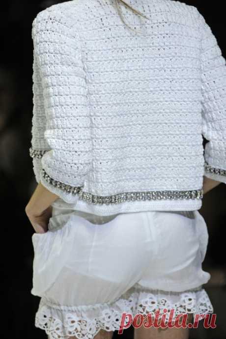 Белоснежный вязаный комплект от Dolce & Gabbana — Делаем руками