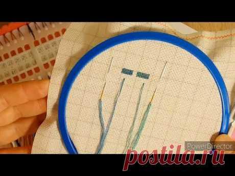 Как вышивать БЛЕНД в 3 нити/вышивка крестом
