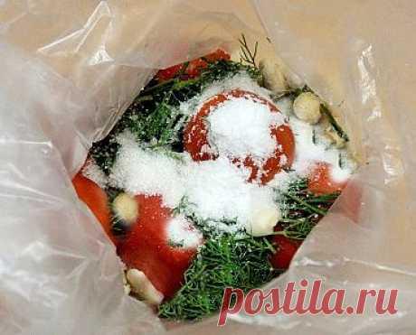 Малосольные помидоры в пакете | Домашние заготовки