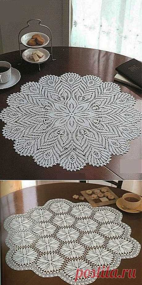 Схемы вязания салфеток