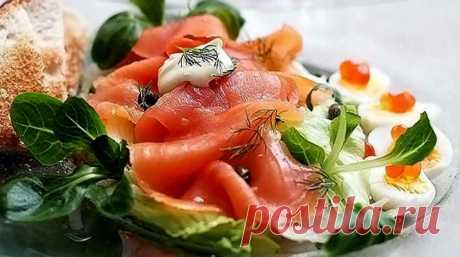 Салат из соленой семги - вкусные рецептики для вашей семьи - Салаты | Люблю готовить