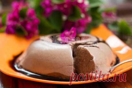 Десерт из взбитых яичных белков в микроволновке (Плавучий Остров) - рецепт с фото | Все Блюда