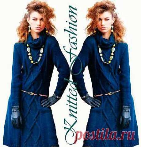 Платье с аранами - KnittedFashion.info
