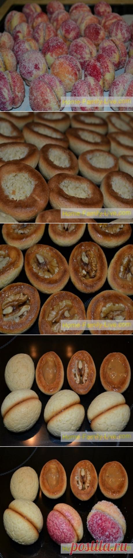 Пирожное Персики - пошаговый фоторецепт - десертКулинарные рецепты