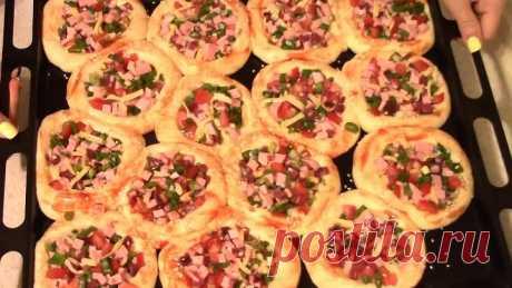 Мини-пицца на скорую руку! Быстро, удобно, вкусно!