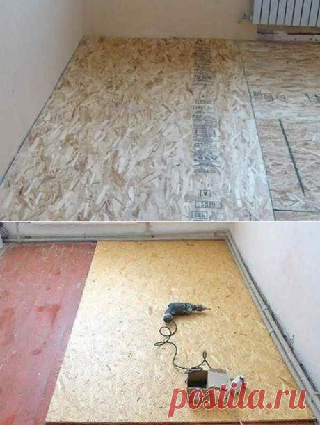 Толщина ОСБ для пола: на бетон или стяжку, по лагам