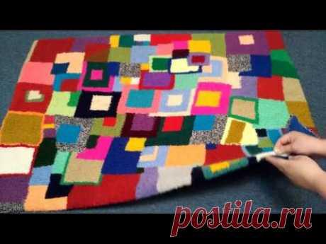 El Tapiz pequeño fenomenal de los restos de los hilos [de la ociosidad la Costura] - YouTube
