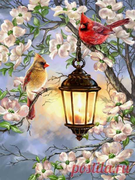 Весенний фонарь — сбор пазла — Пазлы онлайн