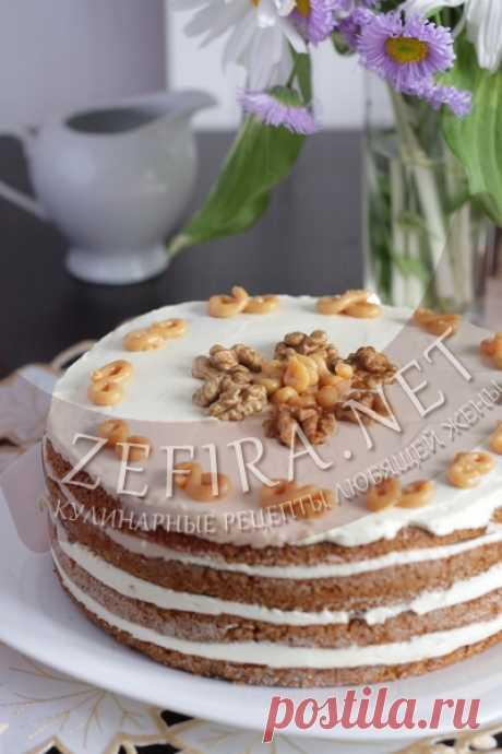 Медовый торт в мультиварке со сметанным кремом и грецкими орехами-домашние рецепты с фото