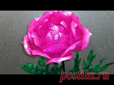 Мастер класс. Многоуровневый цветок из пластиковых бутылок. Видео №2. - YouTube