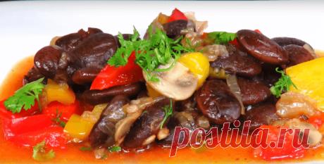 Фасоль с овощами в томатном соусе - recept-foto.ru - Рецепт с фото пошагово