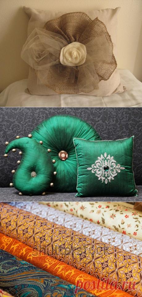 Декоративные подушки своими руками: фото процесса изготовления и интересные идеи