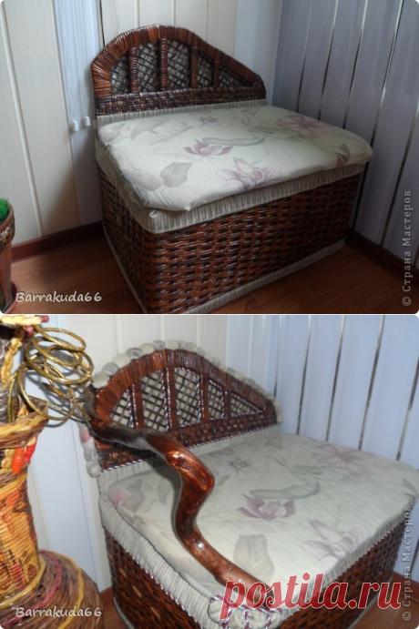 Настоящий!!! Плетёный диванчик из картонной коробки.