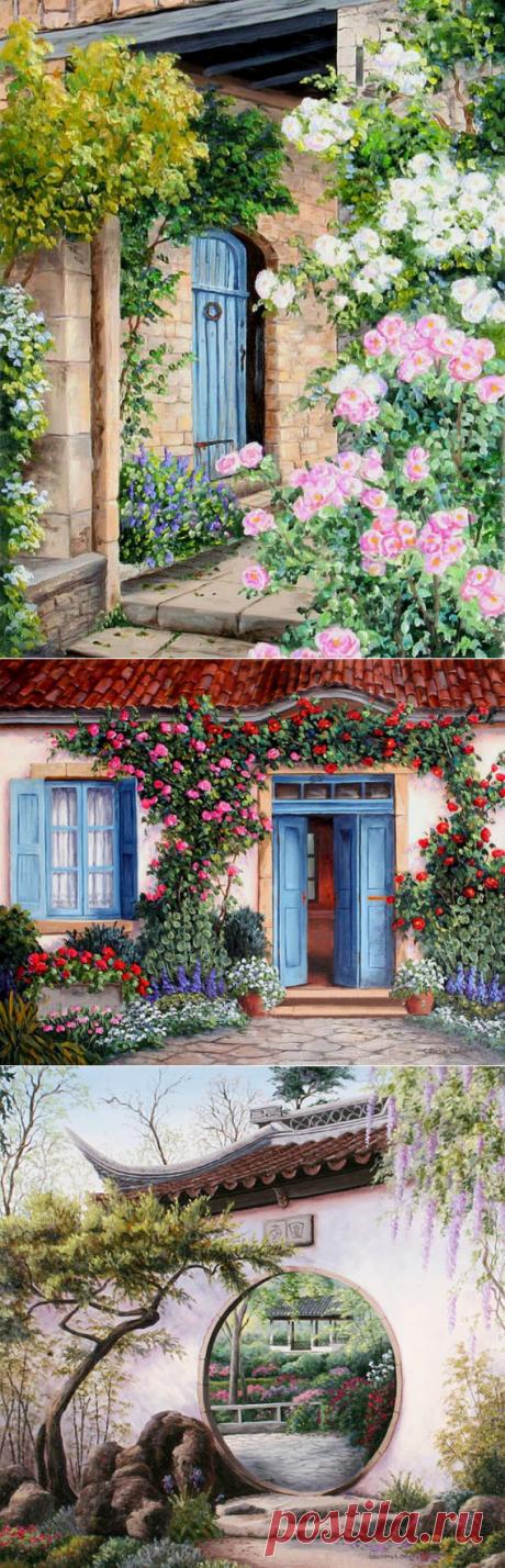 Картинки для декупажа. Цветы и домики - Handmade-Paradise