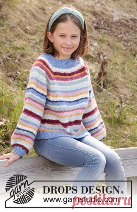 Детский джемпер Happy Stripes - блог экспертов интернет-магазина пряжи 5motkov.ru