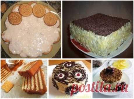 Торты из печенья - 5 лучших рецептов. Рецепт 1: Торт из печенья банановый ... Рецепт 2: Торт из печенья на заварном креме ... Рецепт 3: Торт без выпечки с фруктами ... Рецепт 4: Торт из печенья с творожным кремом ... Рецепт 5: Торт из печенья с кофейным ароматом ...