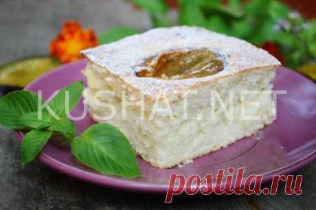 Быстрый и вкусный пирог со сливами. Пошаговый рецепт с фото - Кушать нет