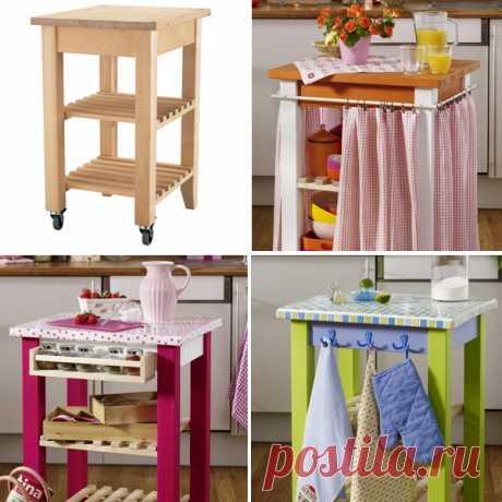 Кухонный столик Беквэм из ИКЕА: 3 новых имиджа для творчества своими руками столик на колесах Беквэм от икеа из массива березы можно обновить своими руками