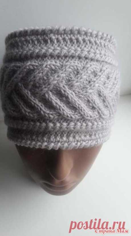 . Теплая повязка на голову - Вязание - Страна Мам