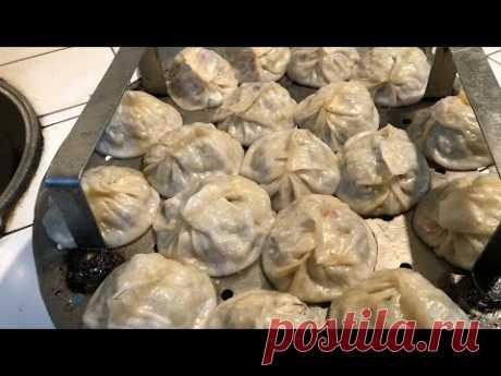 Только так нужно готовить Узбекские манты!!Чайханский вариант!! Узбекистан!!
